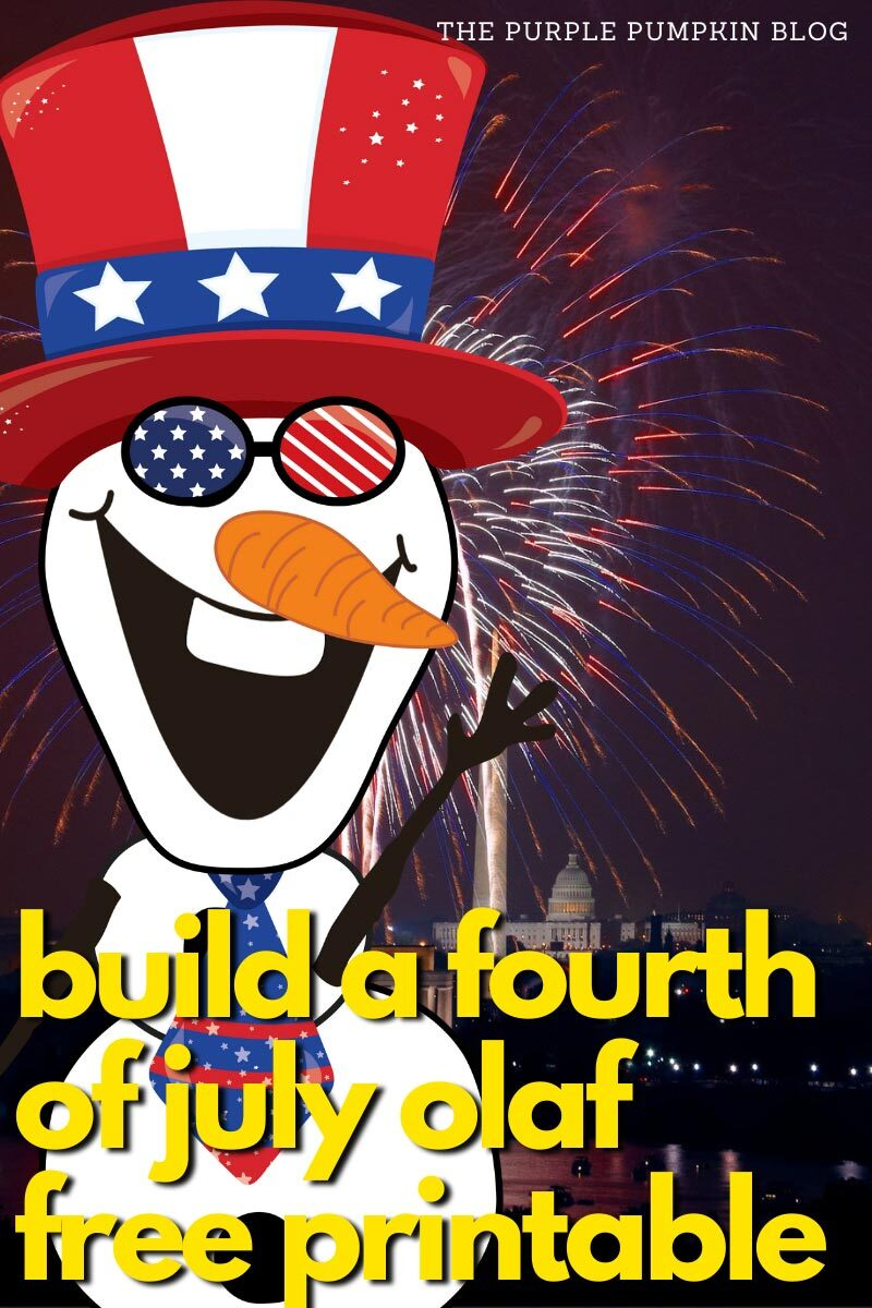 Build a Fourth of July Olaf Free Printable