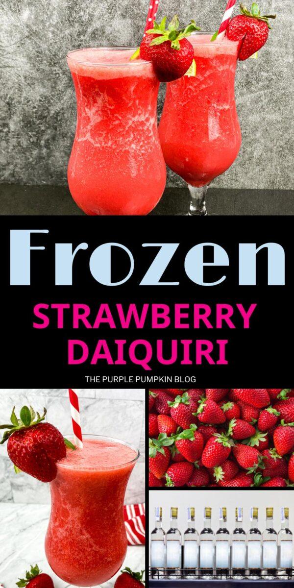 Delicious Frozen Strawberry Daiquiris
