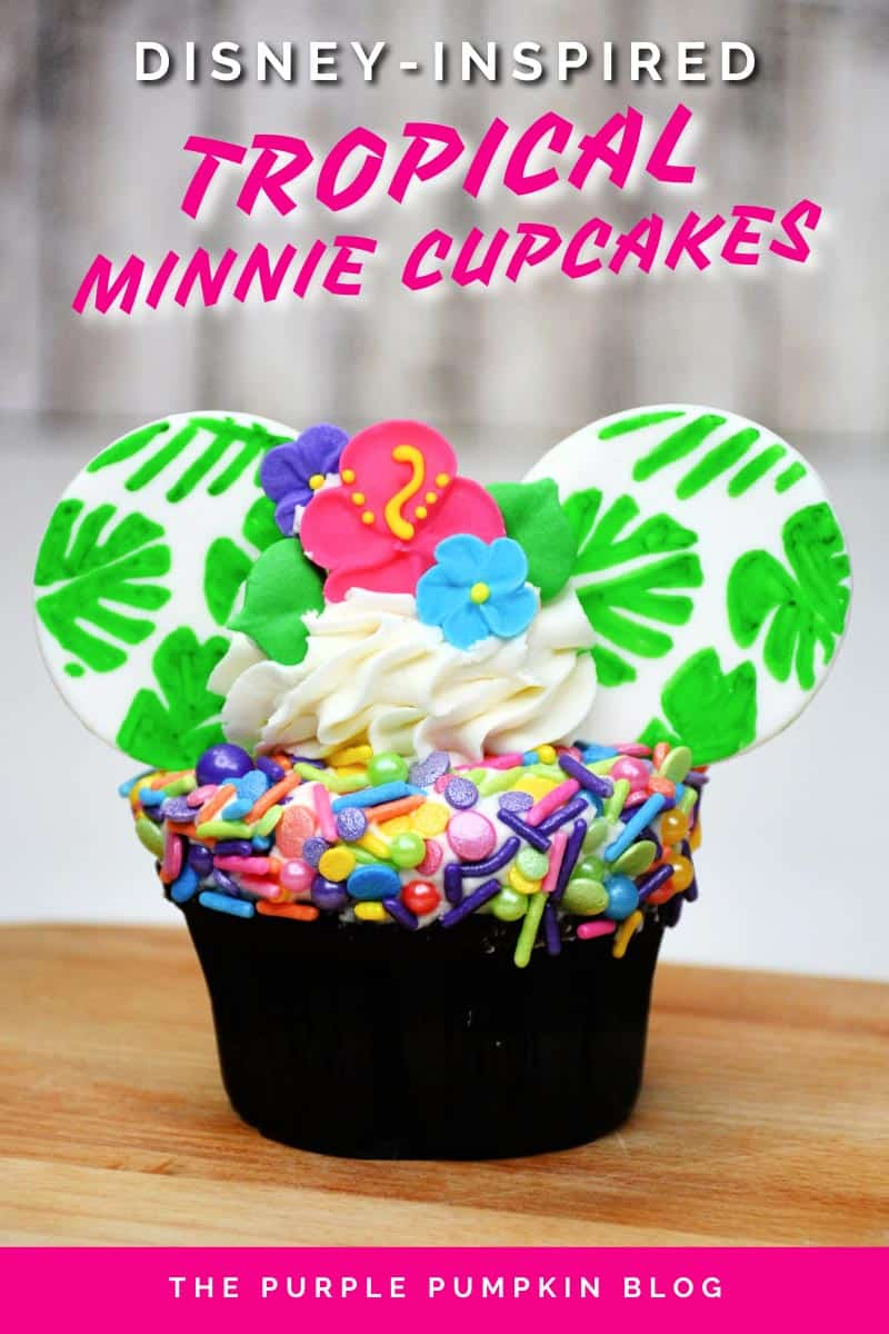 Disney-Inspired-Tropical-Minnie-Cupcakes