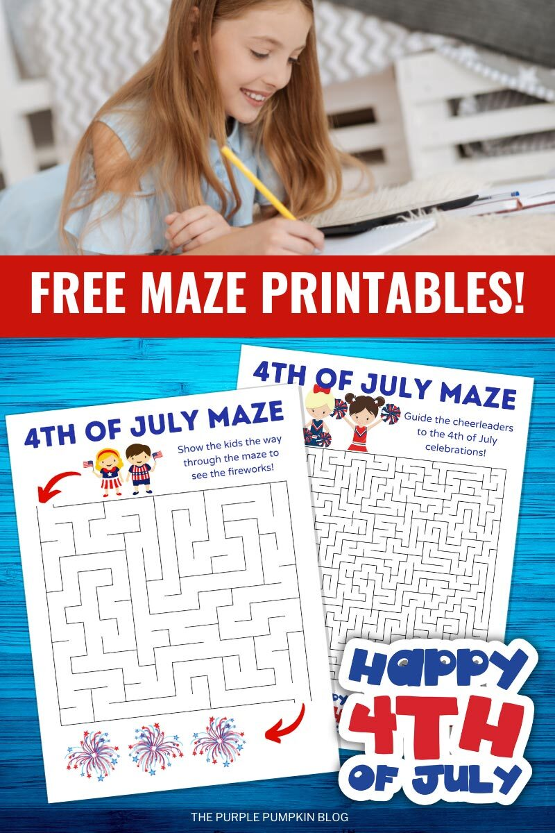 Free Maze Printables - Happy 4th of July