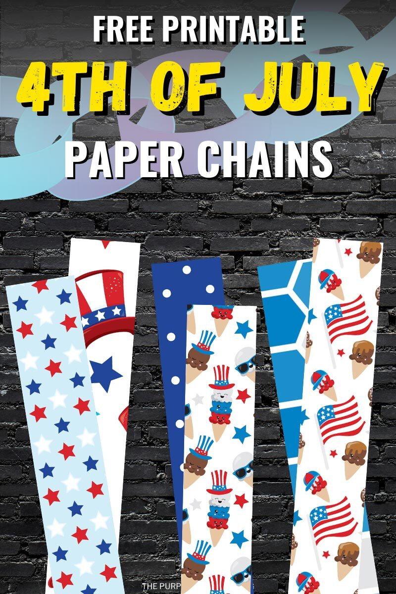 Free Printable 4th of July Paper Chains