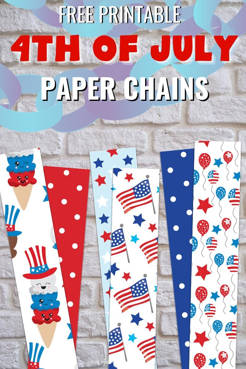 Free Printable Paper Chains for the 4th of July!