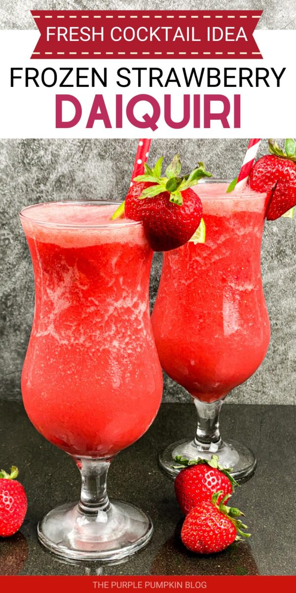 Frozen Strawberry Daiquiri - a Fresh Cocktail Idea