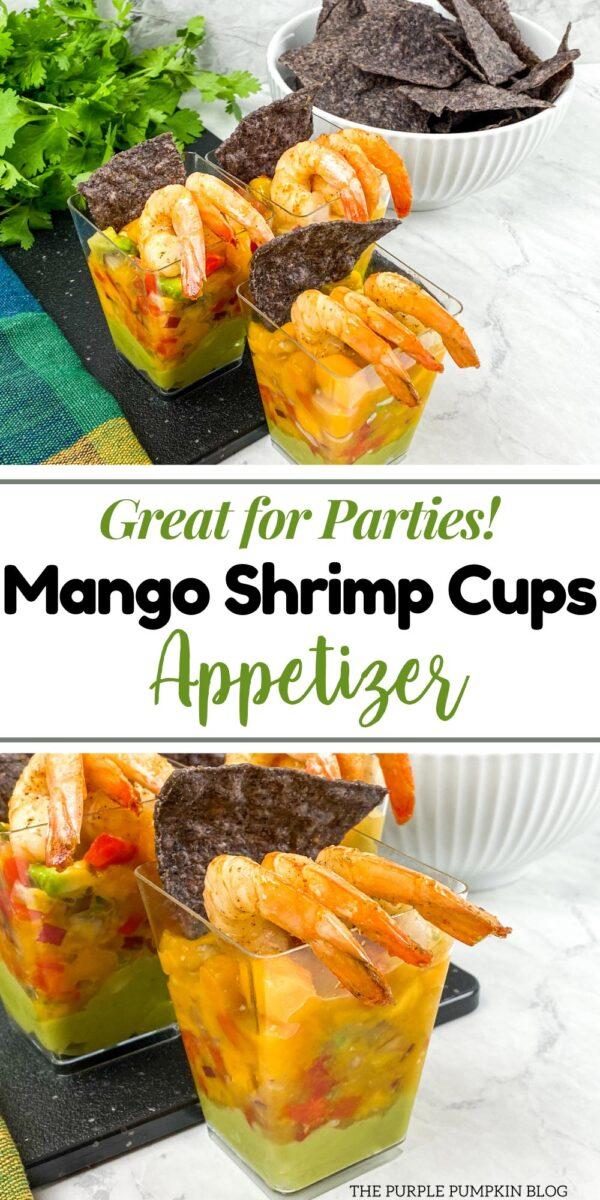 Great for Parties! Mango Shrimp Cups Appetizer