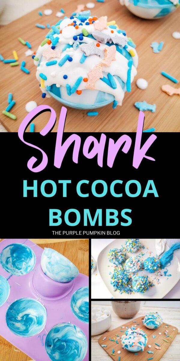 How to Make Shark Hot Cocoa Bombs