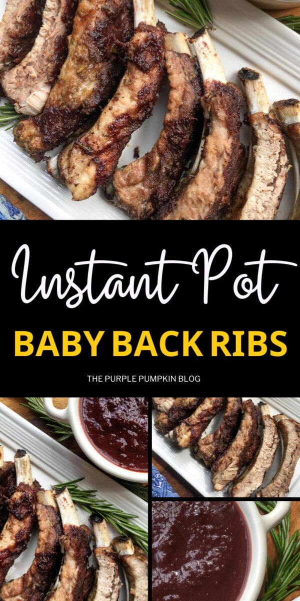 Instant Pot Baby Back Ribs with Dark Cherry Sauce