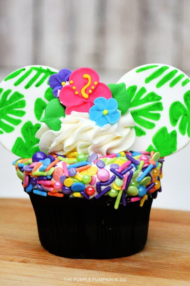 Polynesian Disney Ears Cupcakes