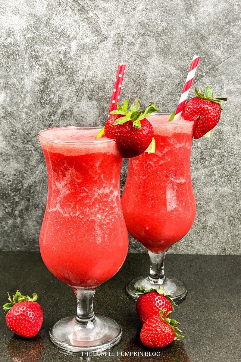 Recipe for Frozen Strawberry Daiquiris