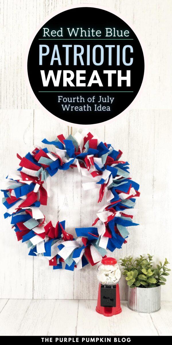 Red White & Blue Patriotic Wreath