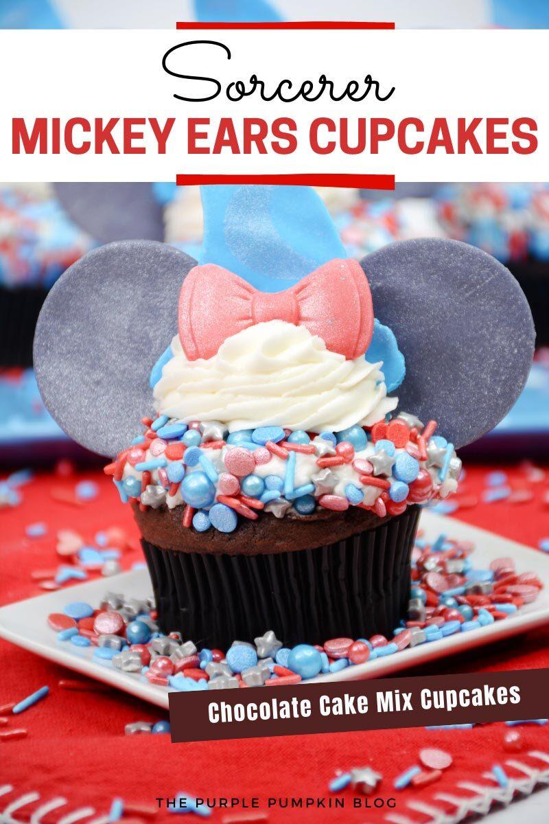 Sorcerer Mickey Ears Cupcakes