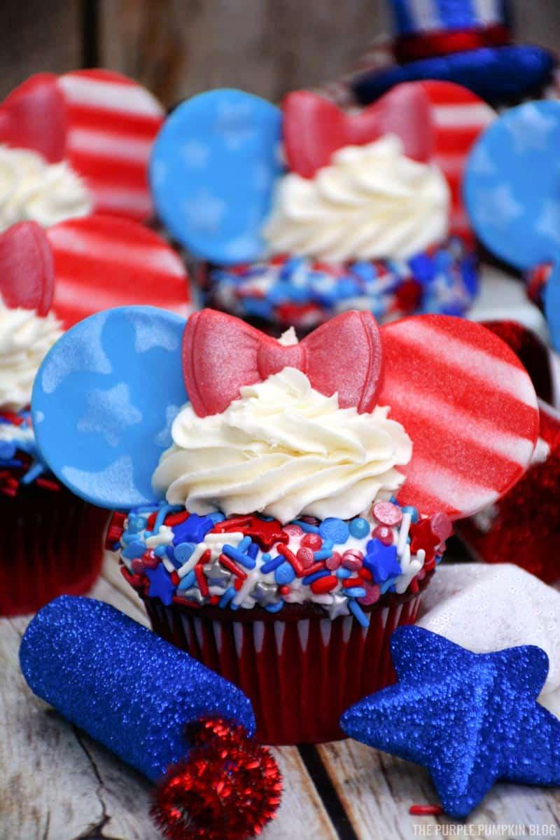 Stars & Stripes Disney Ears Cupcakes