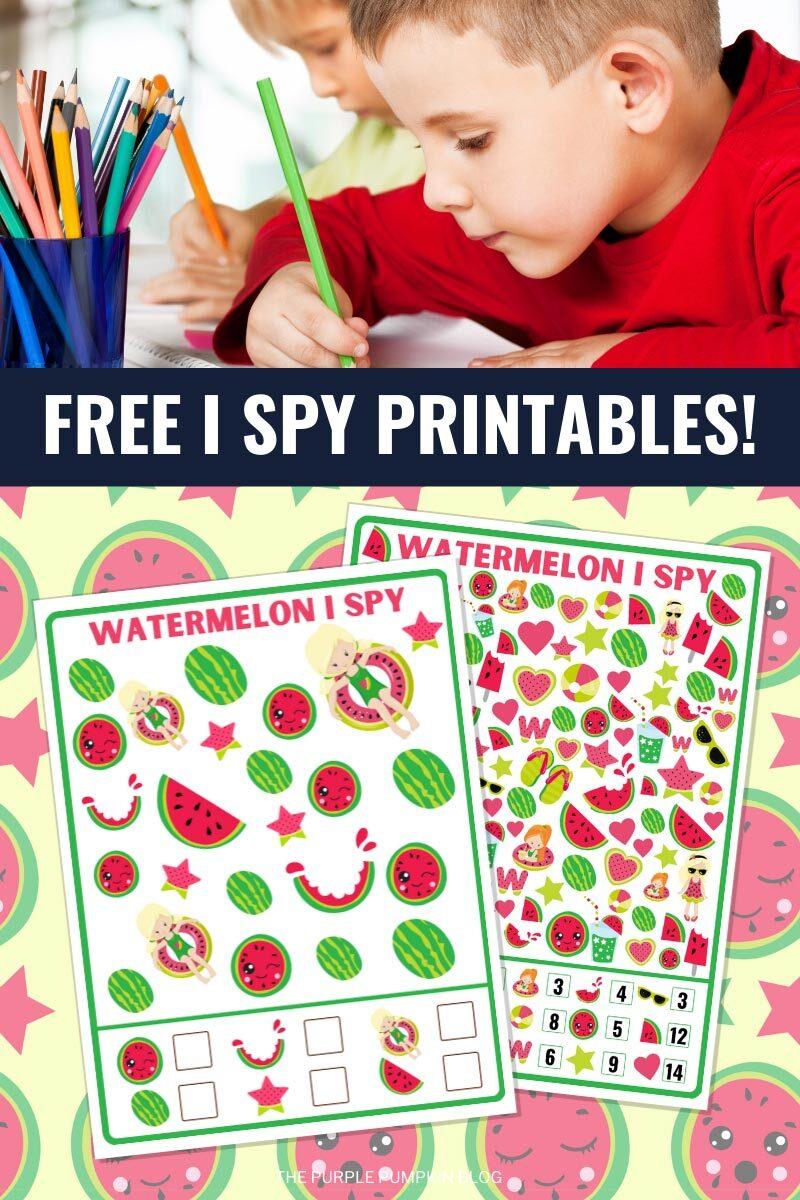 Free I Spy Printables!