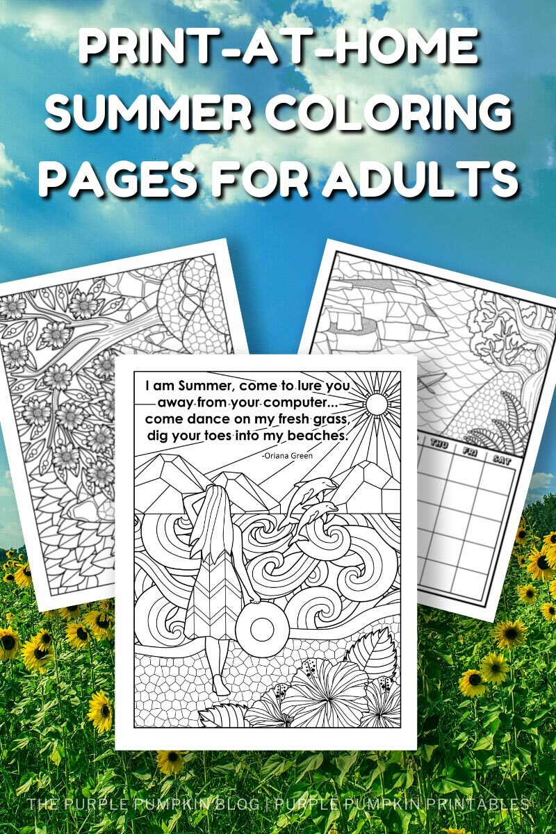 Print-at-Home Summer Coloring Pages for Adults