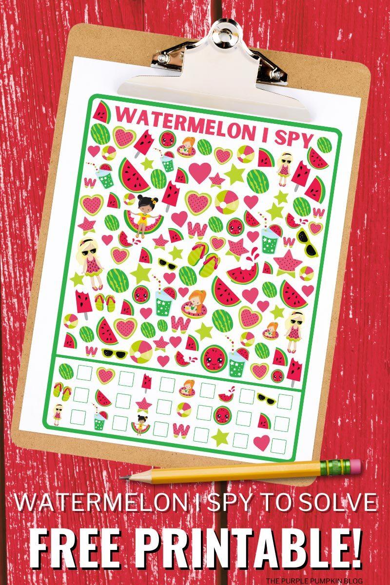 Watermelon I Spy to Solve (Free Printable)