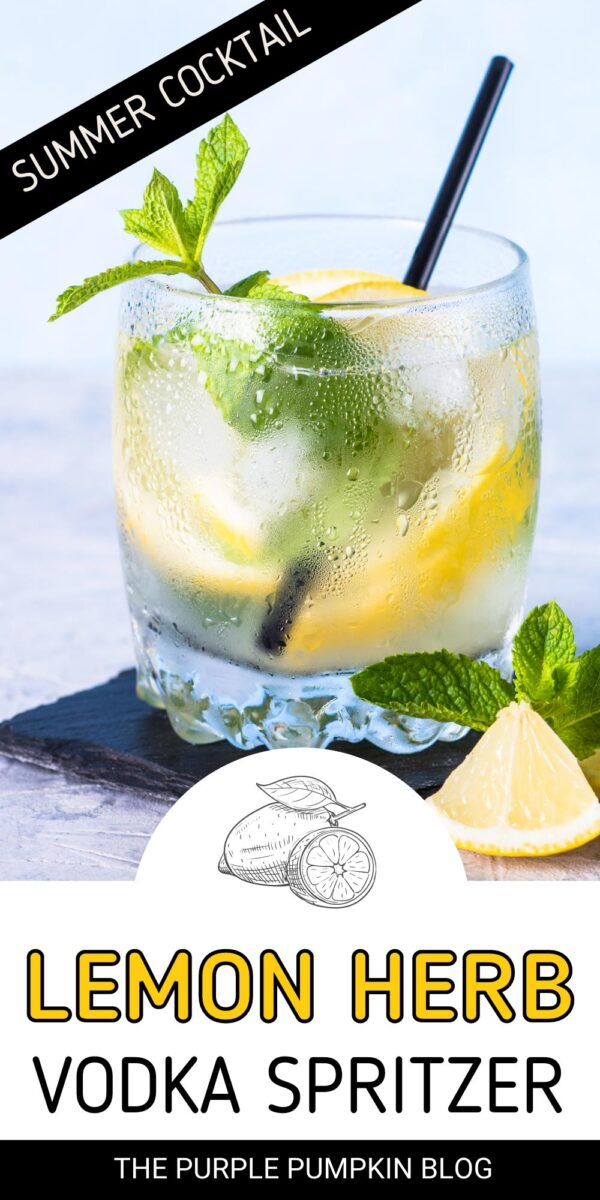 A Summer Cocktail - Lemon Herb Vodka Spritzer
