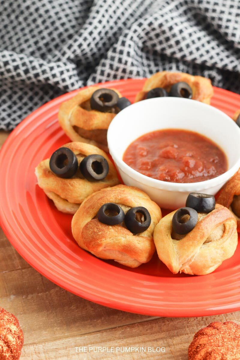 Air Fryer Mummy Meatballs Recipe - Halloween Appetizer
