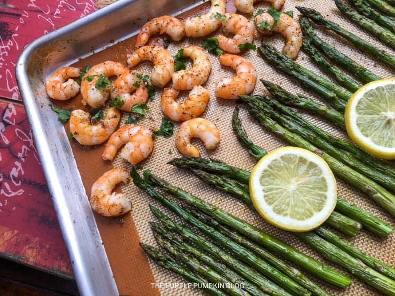 Asparagus & Shrimp on Sheet Pan