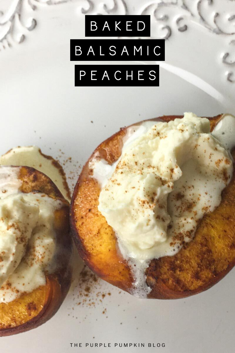 Baked Balsamic Peaches