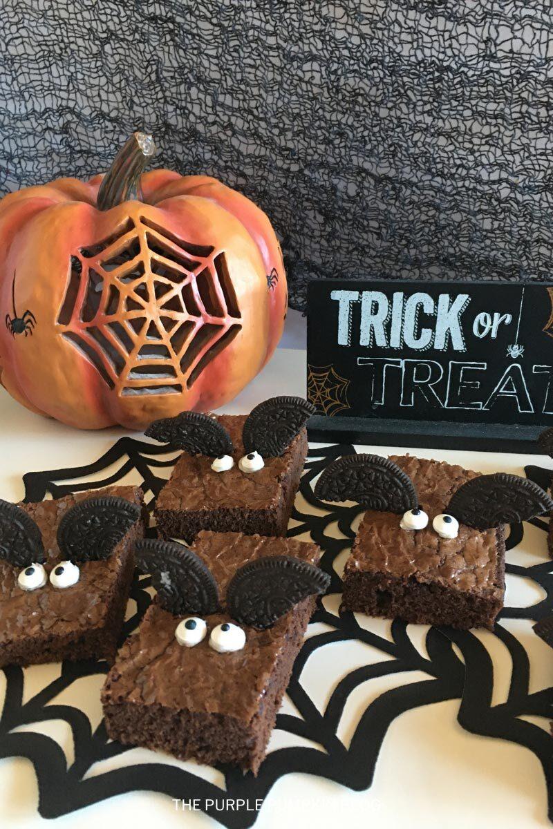 Bat Brownies Halloween Sweet Treat