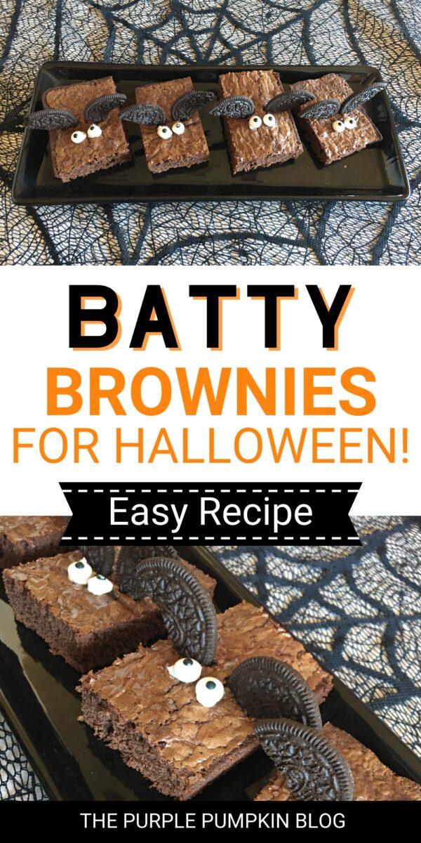Batty Brownies for Halloween! (Easy Recipe!)