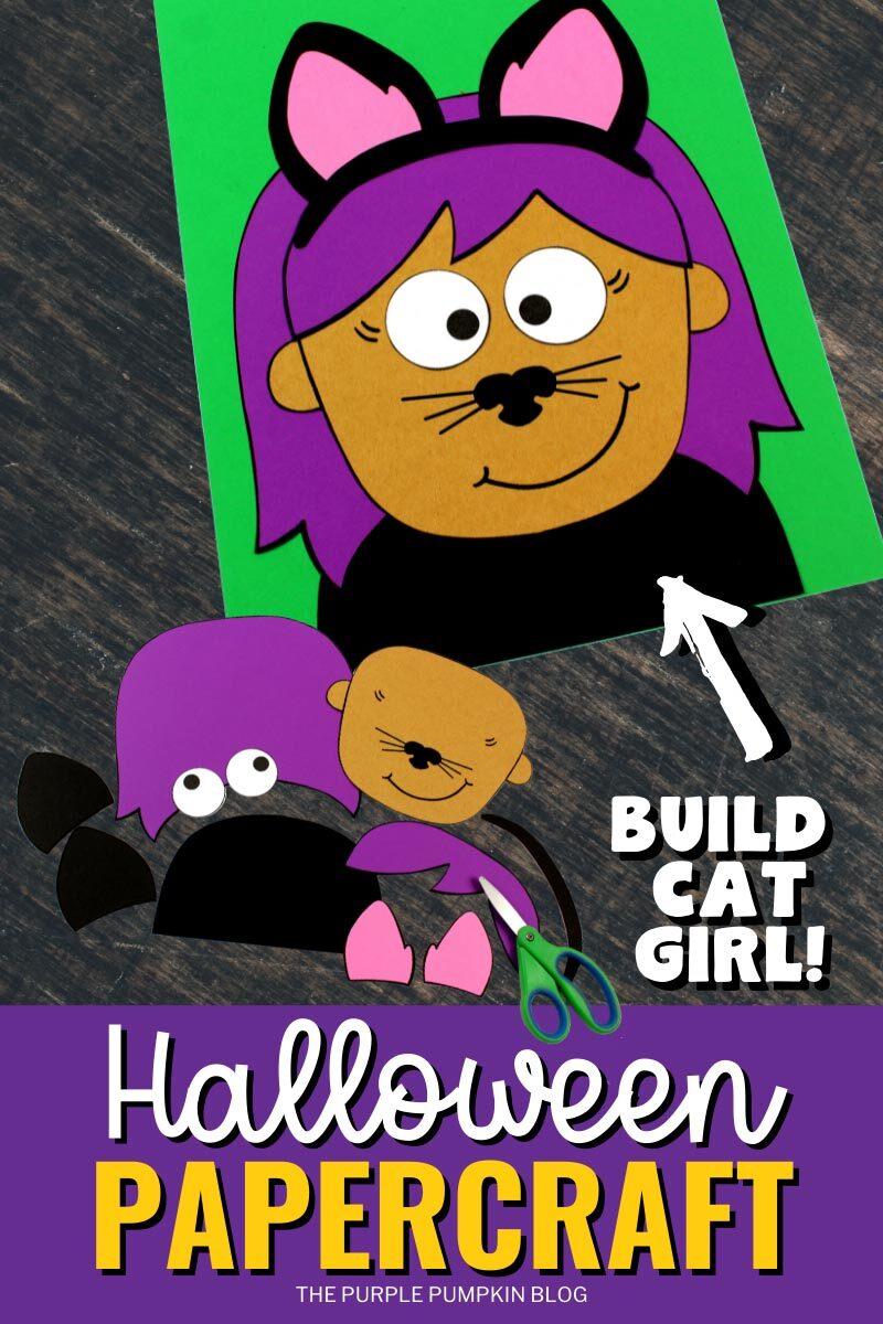 Build Cat Girl Halloween Papercraft