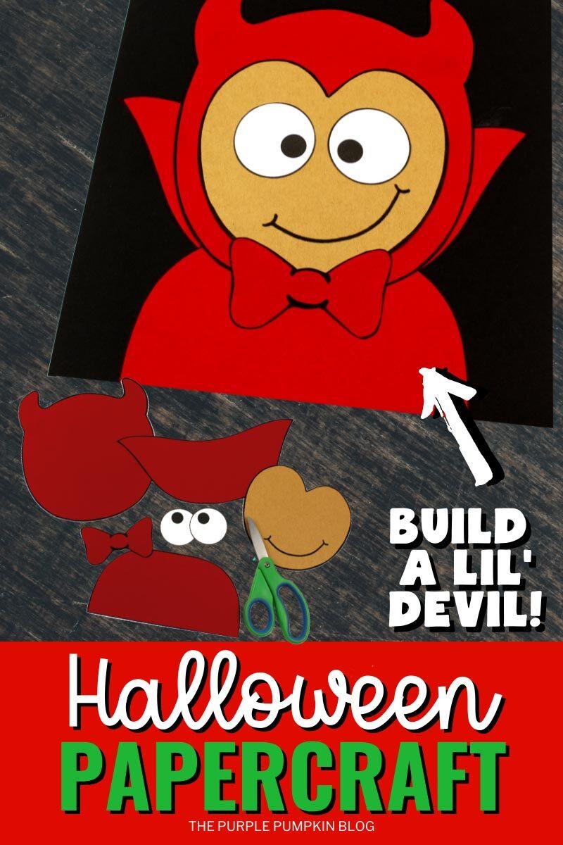 Build a Lil' Devil Halloween Papercraft