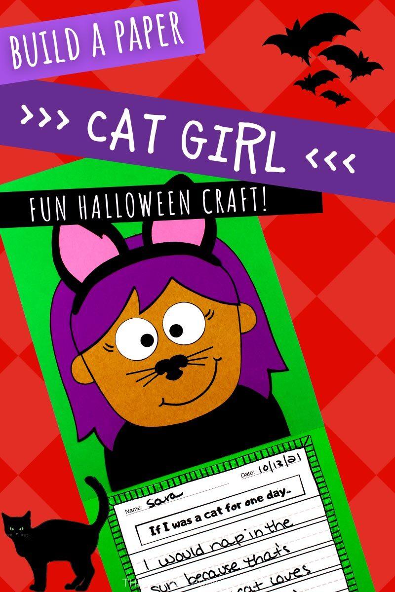 Build a Paper Cat Girl - Fun Halloween Craft!