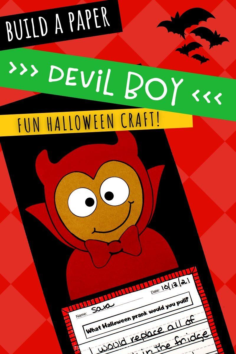 Build a Paper Devil Boy - Fun Halloween Craft!