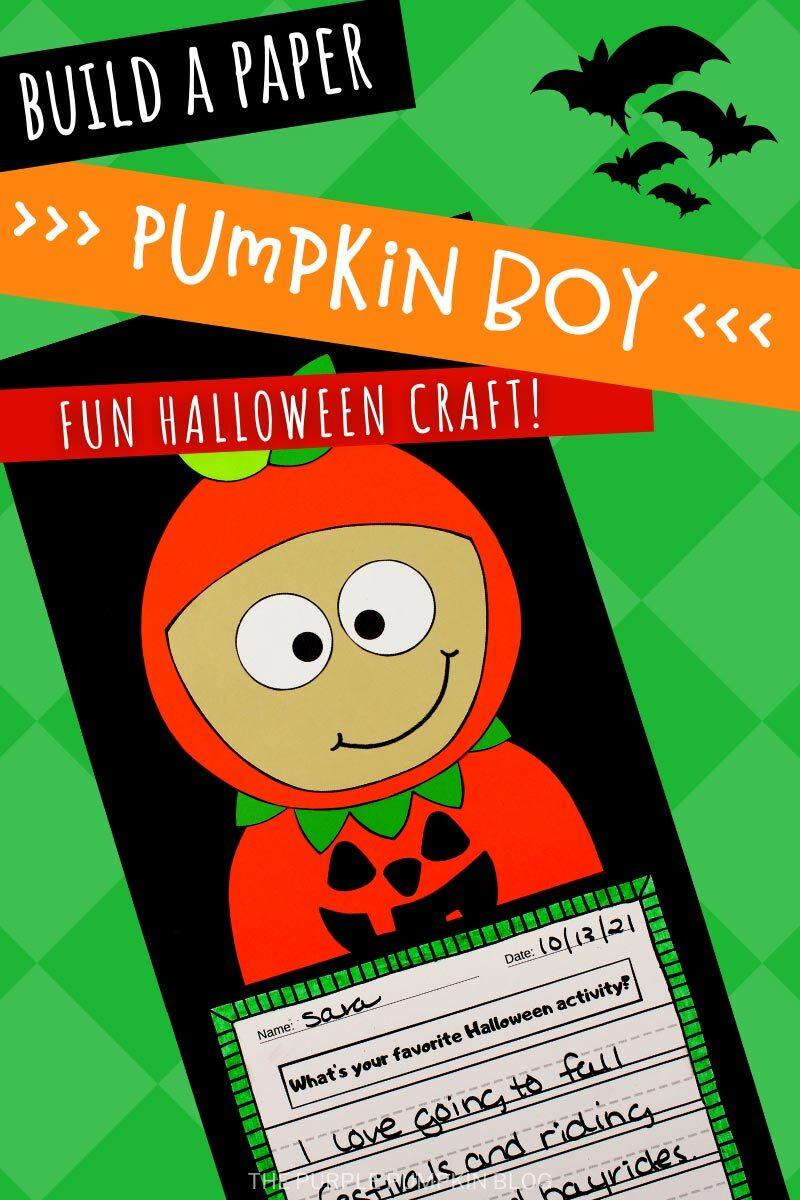 Build a Paper Pumpkin Boy - Fun Halloween Craft