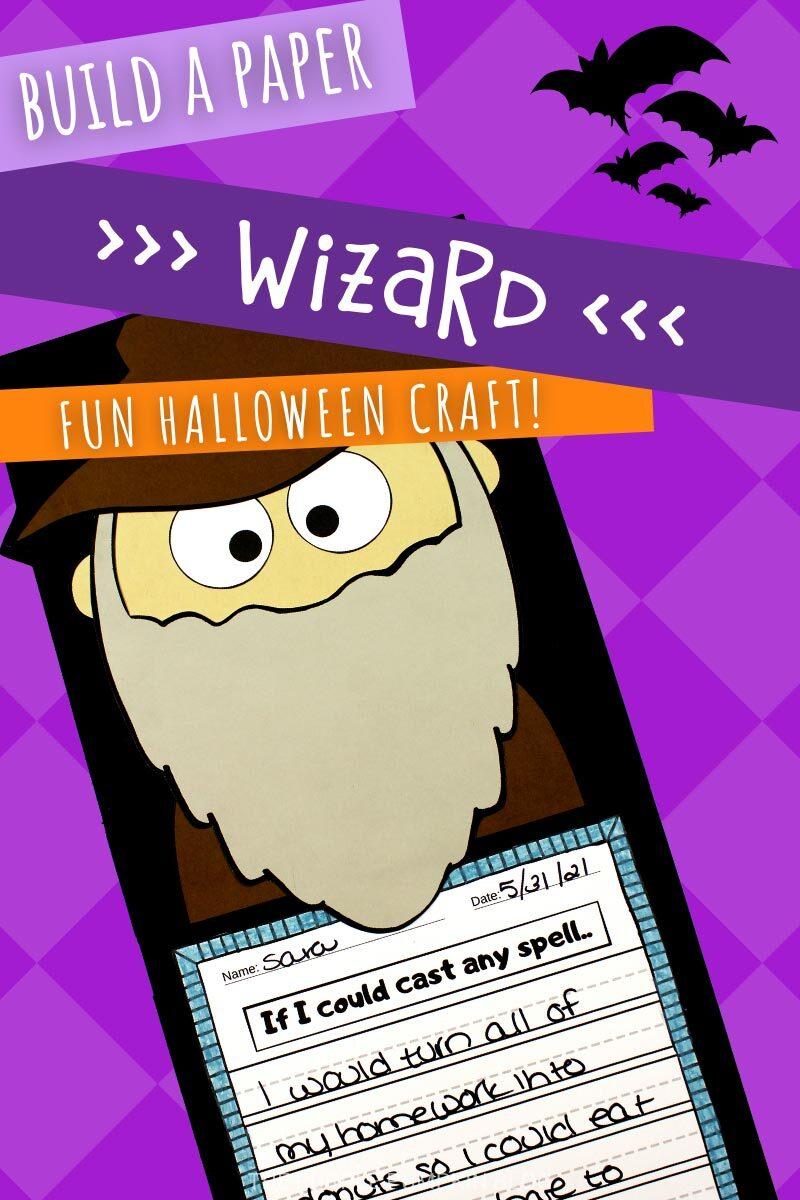 Build a Paper Wizard - Fun Halloween Craft