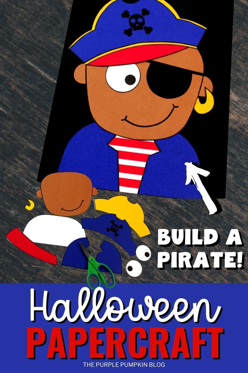 Build a Pirate Halloween Papercraft