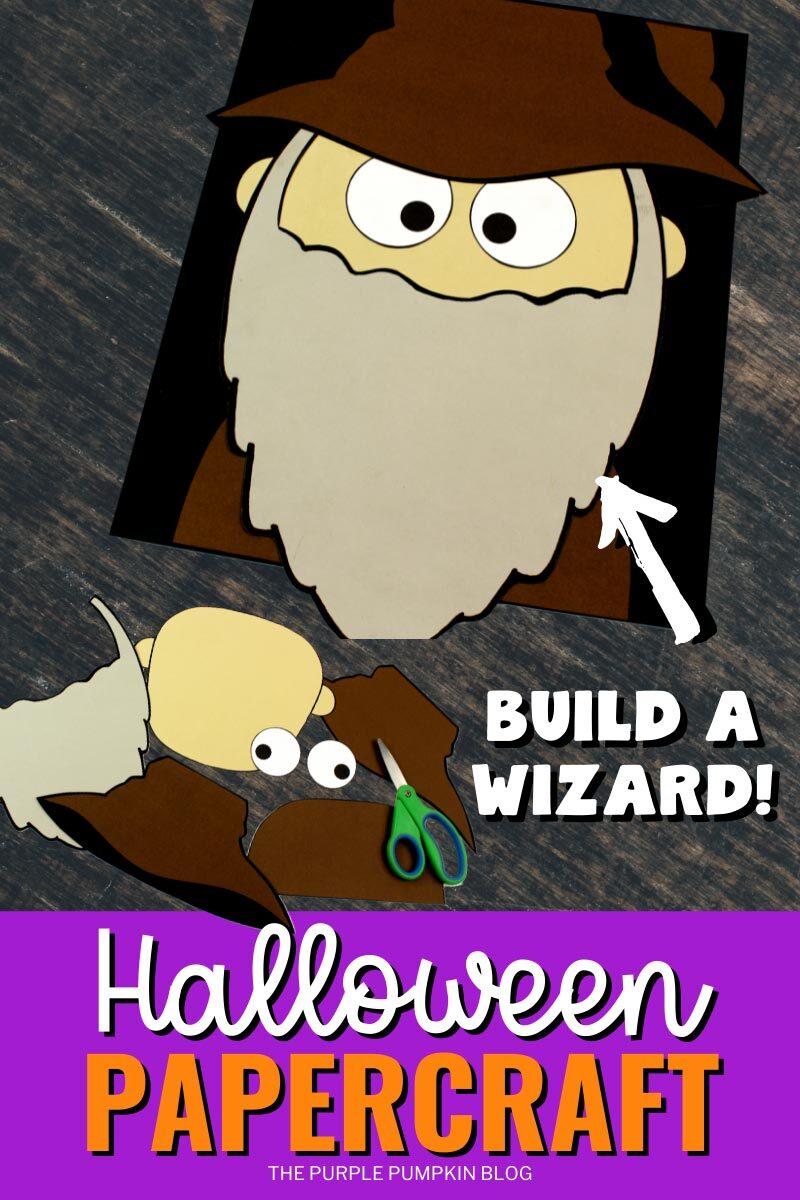 Build a Wizard Halloween Papercraft