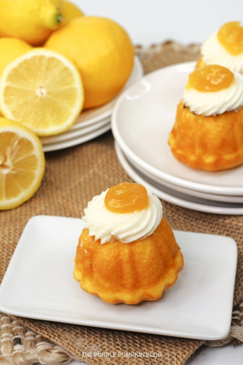 Cake Mix Lemon Bundt Mini Cakes