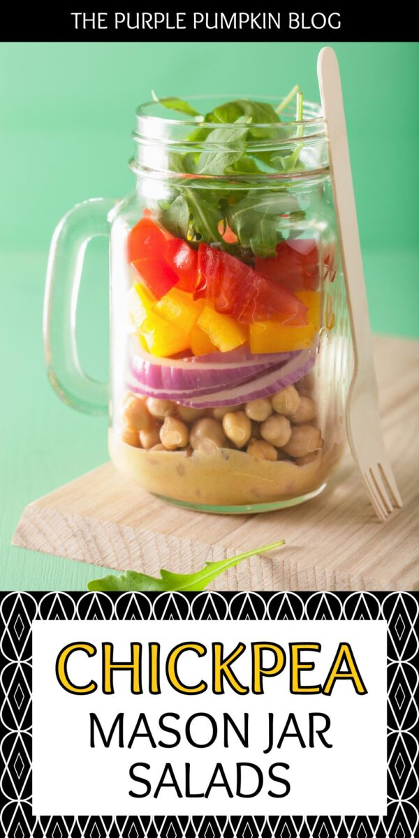 Chickpea Mason Jar Salads