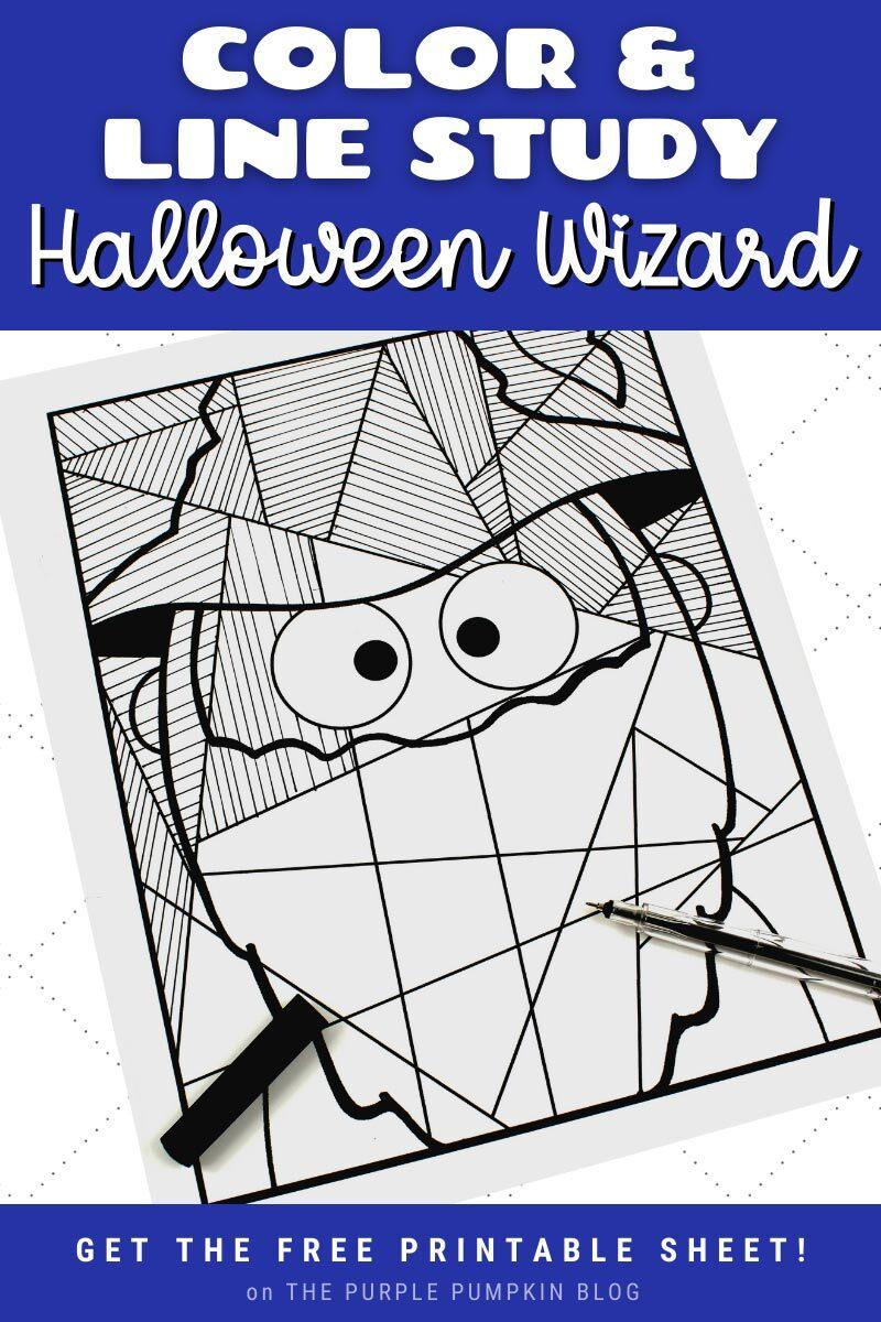 Color & Line Study Halloween Wizard