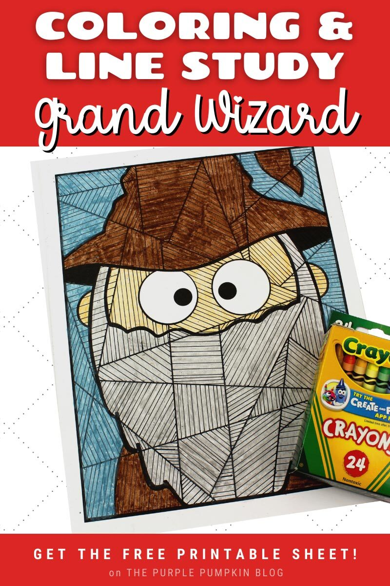 Coloring & Line Study Halloween Grand Wizard