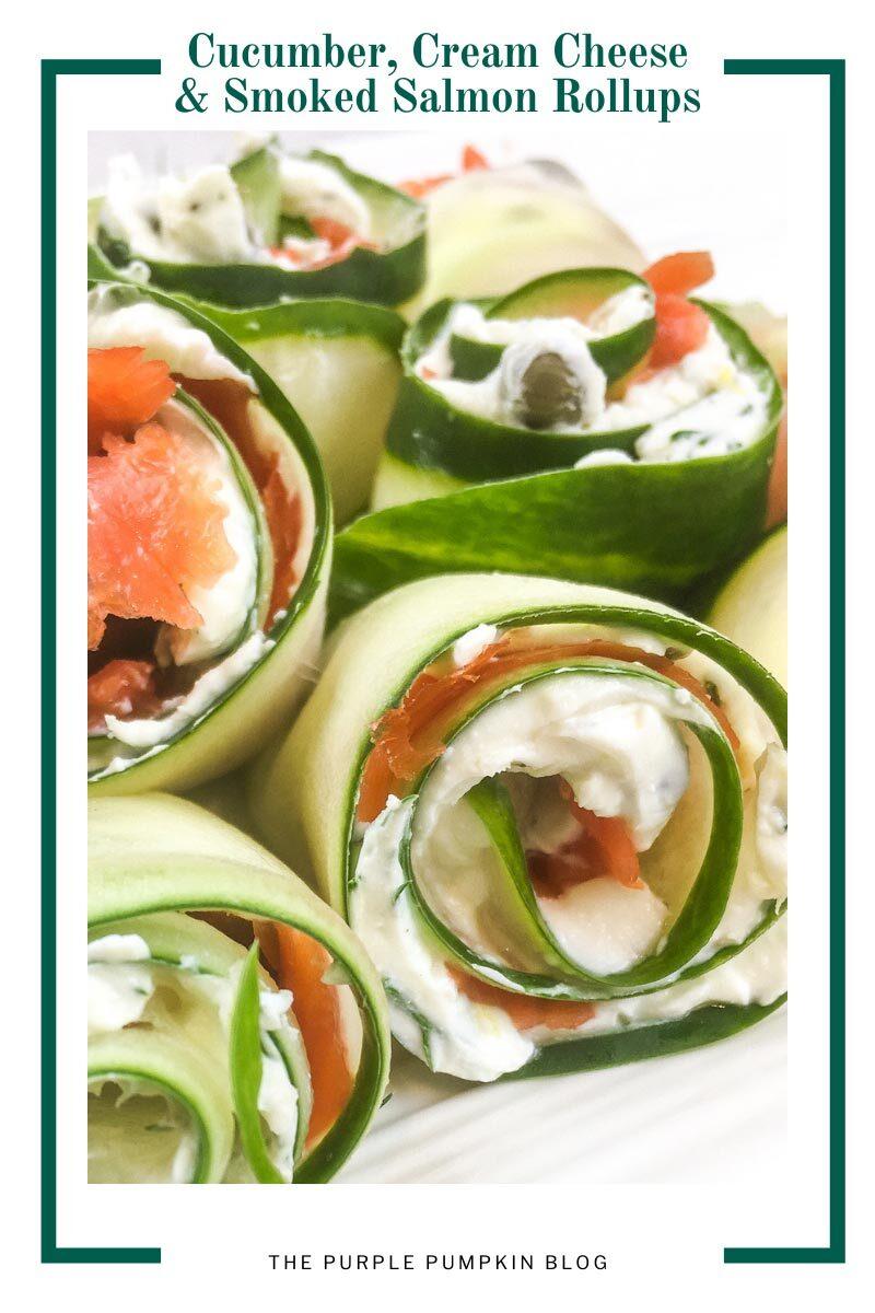 Cucumber, Cream Cheese & Smoked Salmon Rollups