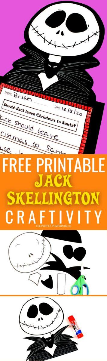 Free Printable Craftivity - Jack Skellington