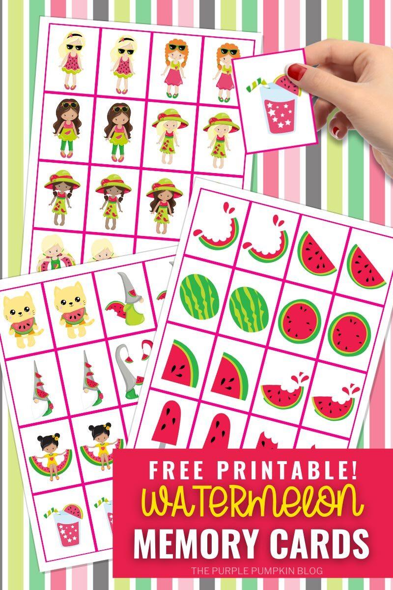 Free Printable Watermelon Memory Cards