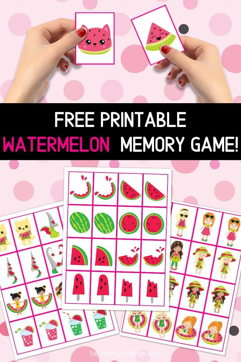 Free Printable Watermelon Memory Game!