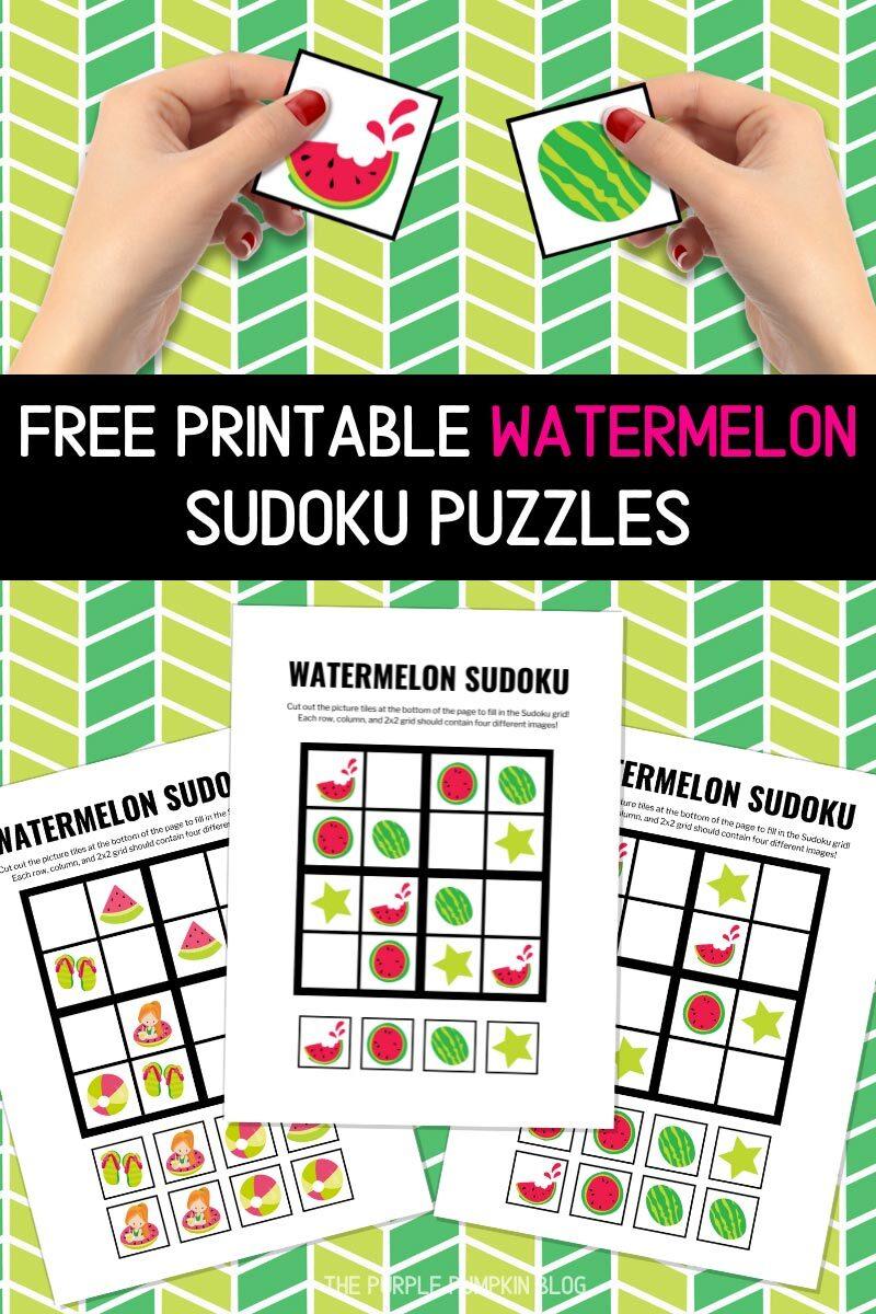 Free Printable Watermelon Sudoku Puzzles