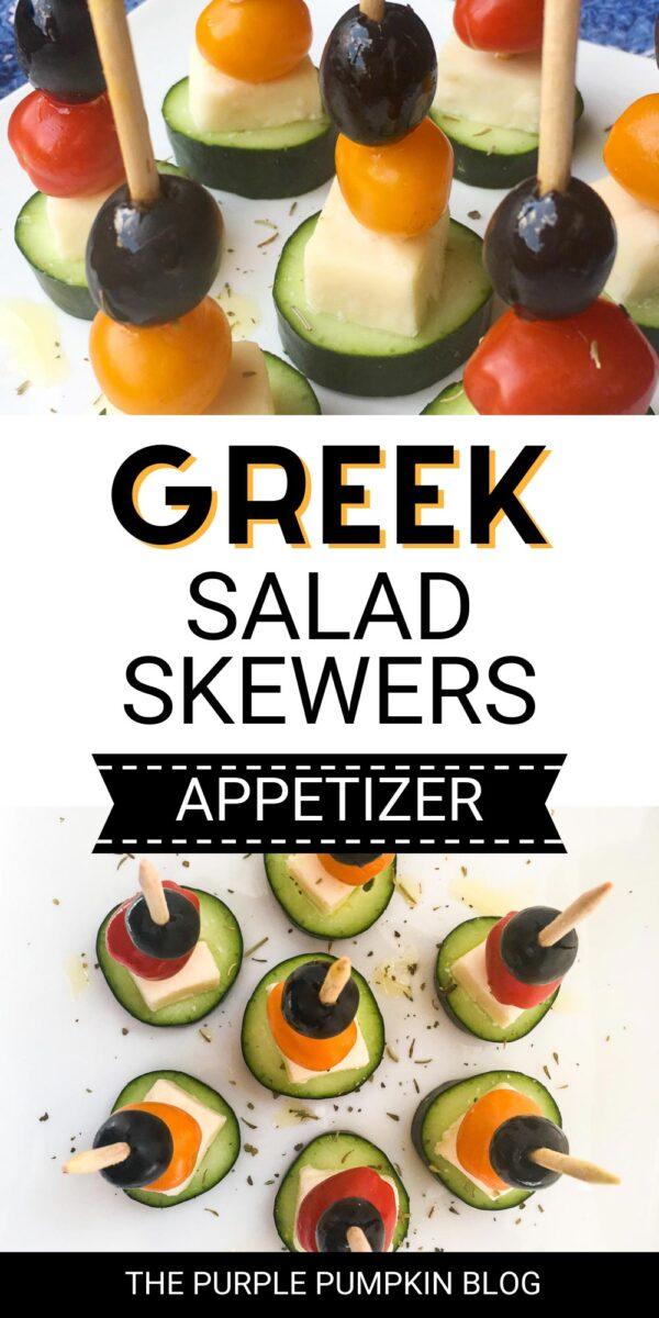 Greek Salad Skewers Appetizer