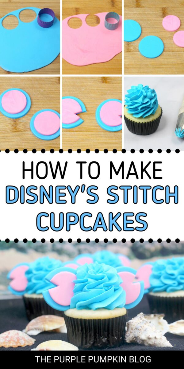 How to Make Disney's Stitch Cupcakes (Step-by-Step)