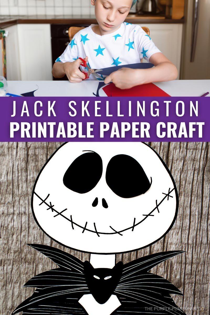 Jack Skellington Printable Paper Craft