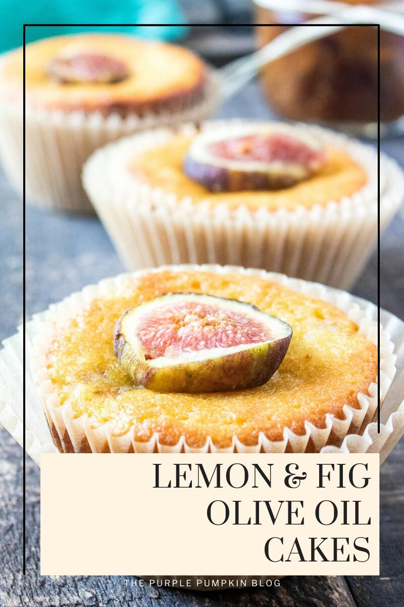 Lemon Fig Olive Oil Mini Cakes