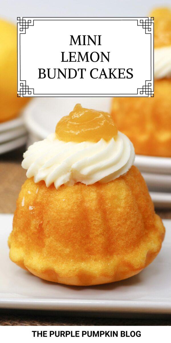 Mini Lemon Bundt Cakes Recipe using Cake Mix