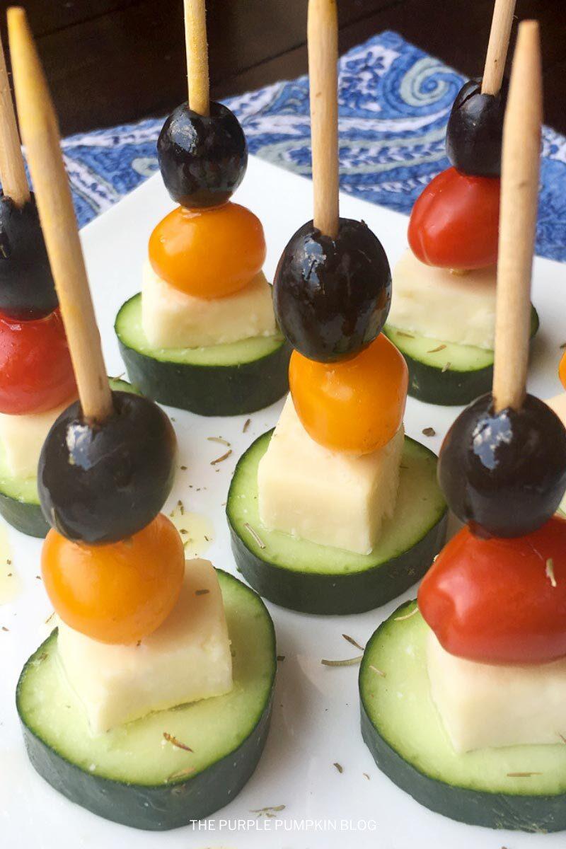 Party Appetizer Idea! Greek Salad Skewers