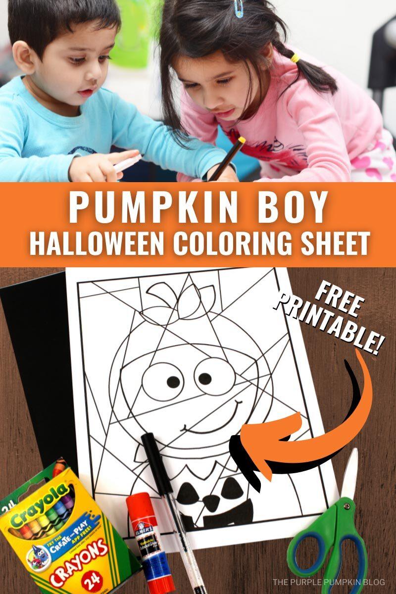 Pumpkin Boy Halloween Coloring Sheet