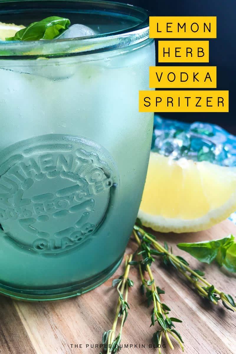 Recipe for Lemon Herb Vodka Spritzer