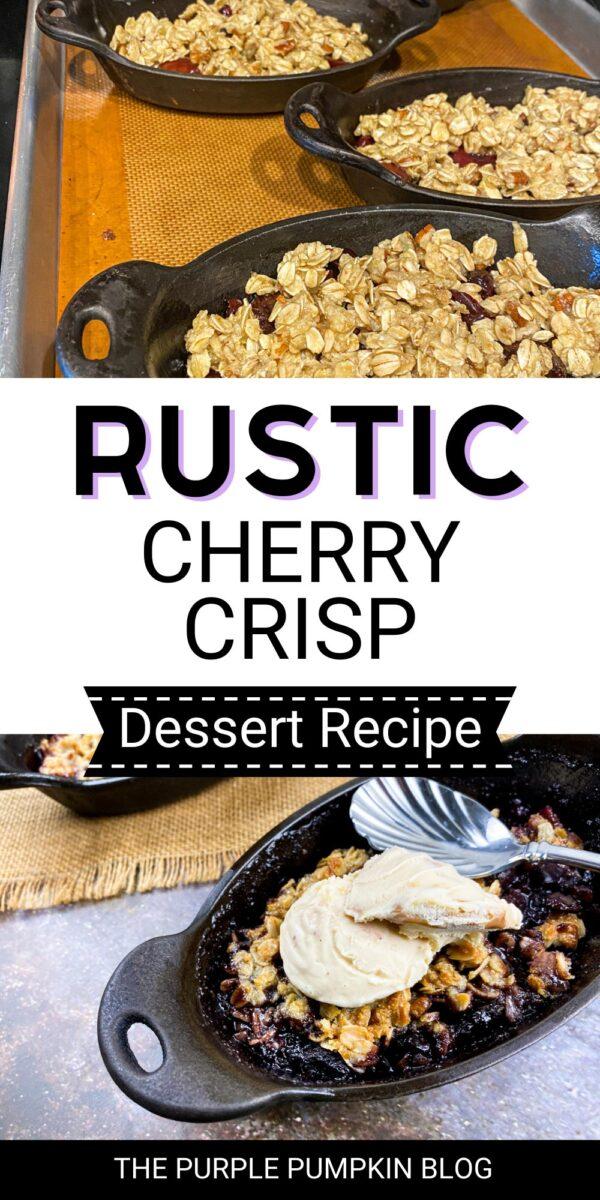 Rustic Cherry Crisp Dessert Recipe